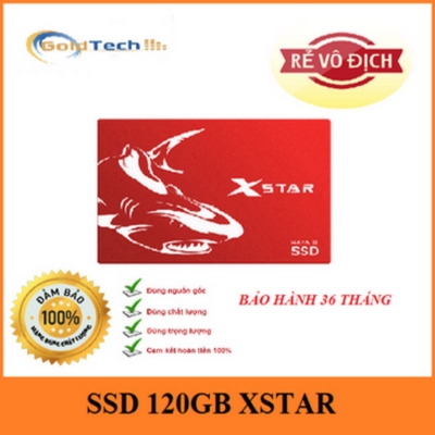 Ổ cứng SSD 120GB XSTAR SATA3 Drive 2.5'' Sequential Read 550MB/s - Red