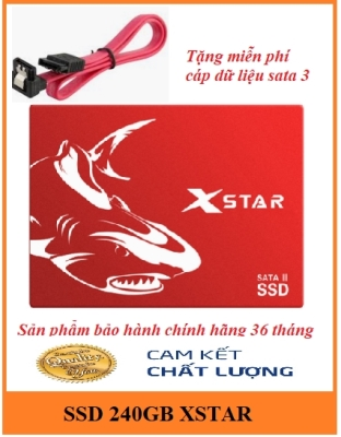 Ổ cứng SSD 240GB XSTAR SATA3 Drive 2.5'' Sequential Read 550MB/s - Red